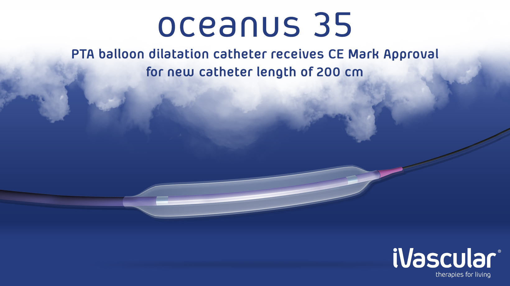 Oceanus 35, PTA balloon dilatation catheter receives CE Mark Approval for new catheter length of 200 cm.
