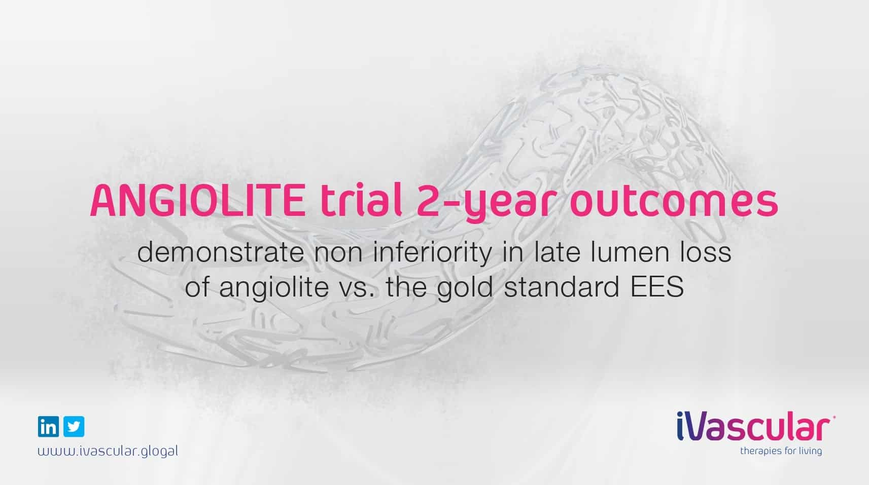 Latest generation DES: ANGIOLITE trial 24-month outcomes revealed at EuroPCR 2019 the non-inferiority of angiolite vs the gold standard EES